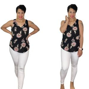 Sleeveless Floral Top Old Navy